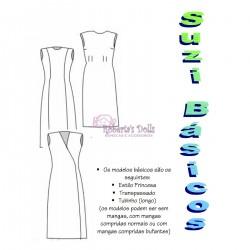 Molde vestidos para Suzi