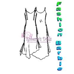 Molde de Vestido de alcinha