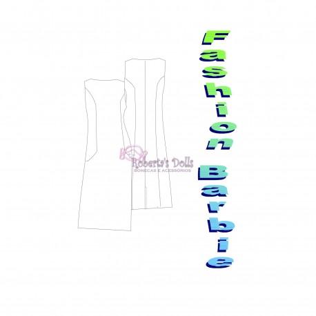 Molde vestido reto com bolsos embutidos